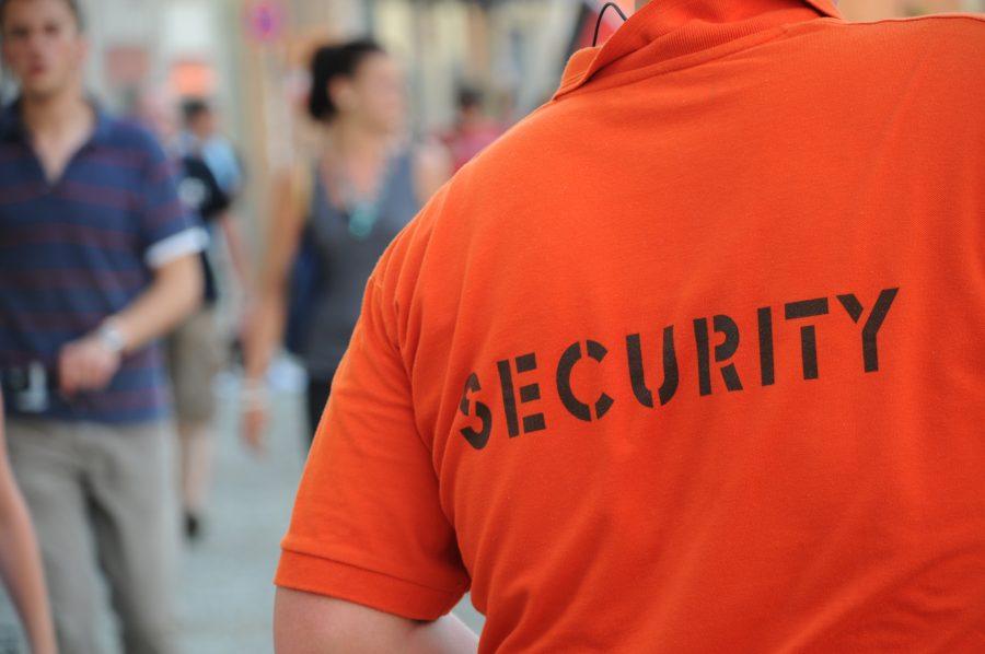 Sicherheitsdienst auf Veranstaltung