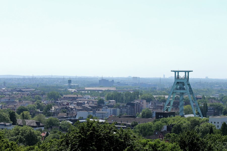Bochum Landschaft mit Förderturm