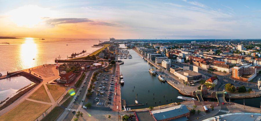 Bremen - Blick auf den Hafen