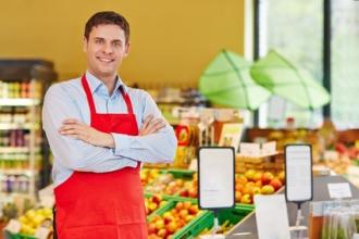Leiter eines Biomarktes