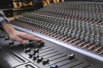 Musikstudio Mischpult